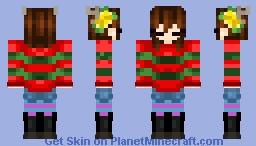 frisk x-mas edit Minecraft Skin