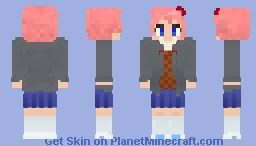 Sayori - Doki Doki Literature Club Minecraft
