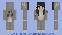 07: Little Gray Reindeer Minecraft Skin