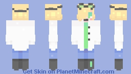 oh look its a scientist thing Minecraft Skin