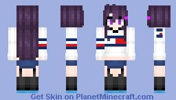 Yuri - DDLC (Tommy Hilfiger) Minecraft Skin