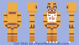FNAF - Chica (Withered version added!) Minecraft Skin