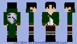 Levi Ackerman | AOT 2.0 Minecraft Skin