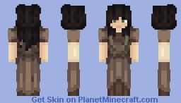 Dark Hair Woman Minecraft Skin