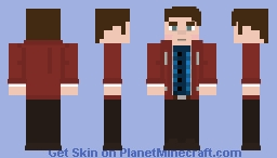 Dirk Gently's holistic detective agency: Dirk Gently red jacket Minecraft Skin