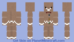 Gingerbread Man Minecraft Skin
