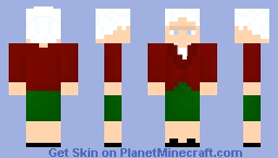 Grumpy Christmas Secretary Minecraft Skin