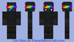 Black Rainbow Minecraft Skin