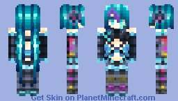 🐬初音ミク | Hatsune Miku🐬 [VOCALOID BURST | POPREEL | Read Desc!] Minecraft Skin