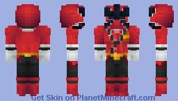 Power Rangers Samurai: Jayden Shiba (Red Fire Sumurai Ranger) Minecraft Skin