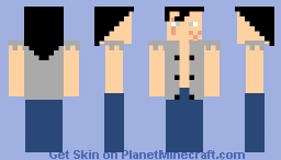 Ultra instinct Yamcha Minecraft Skin