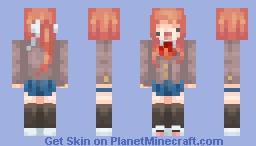 Derp Monika. | DDLC Minecraft Skin