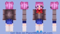 ✨ 𝓢𝓟𝓐𝓡𝓚𝓘𝓔 ✨ Natsuki (Doki Doki Literature Club) Minecraft Skin