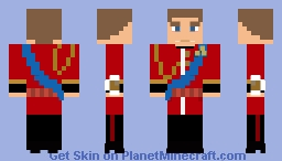 Prince William, Duke of Cambridge Minecraft Skin