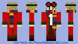 Christmas skin with 4th Doctor's Scarf (Doctor  Who) Minecraft Skin