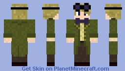 11th Doctor's Green Coat from series 6 Minecraft Skin