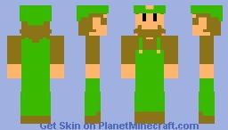 SMB Deluxe Luigi Minecraft Skin