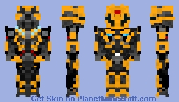 Transformers The Last Knight Bumblebee With Battle Mask Minecraft Skin