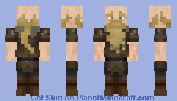 Blonde Male Viking #1 Minecraft Skin