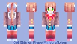 Monika - Doki Doki Literature Club Minecraft Skin