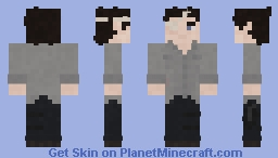 The Walking Dead Carl Grimes 8x08 Minecraft Skin
