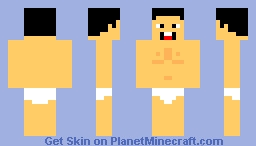 Naked Guy Wearing Diaper Minecraft Skin