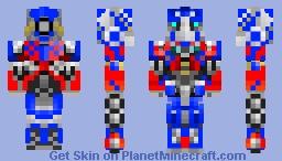 Optimus Prime, bayformers Minecraft Skin