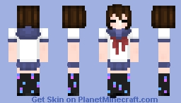 School Uniform Frisk Minecraft Skin
