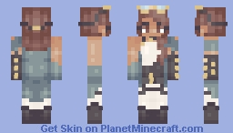 Steampunk Sister -- Christmas gift Minecraft Skin