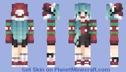 Christmas Girl ~ Blue Hair Minecraft Skin