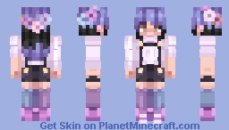 """finally I can be whit you..."" Minecraft Skin"
