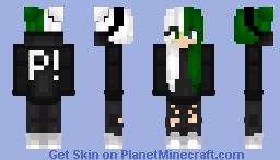 Green and White girl Minecraft Skin