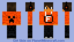 "Boy With the letter ""F"" on Shirt Minecraft Skin"