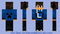 Boy With L on Shirt Minecraft Skin