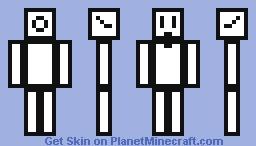 Cool Pixel Man (Inverse) Minecraft Skin