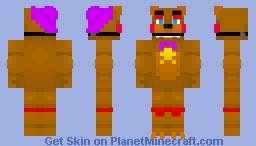 fnaf 6 rockstar freddy Minecraft Skin