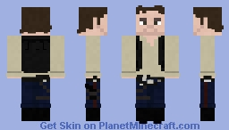 Han Solo / Star Wars / A New Hope Minecraft Skin
