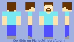 Herobrine (by DraftMountain22) Minecraft Skin