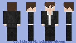 Guy in a suit (3D effect! & 2 color versions) ~Vladagast Minecraft Skin