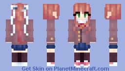 School Monika - DDLC Minecraft Skin