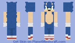 Sonic | Sonic The Hedgehog Minecraft Skin
