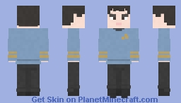 Spock | Star Trek: The Original Series Minecraft Skin