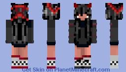~*anime blind demon girl*~ Minecraft Skin