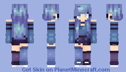ღBlue Wavesღ Minecraft Skin
