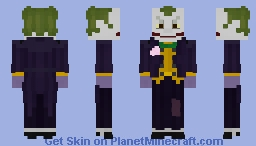 Arkham Asylum Joker Minecraft Skin