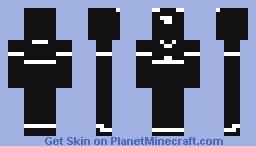 Black & White Noob Minecraft Skin