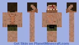 Cyclops with his eye Jabbed out Minecraft Skin
