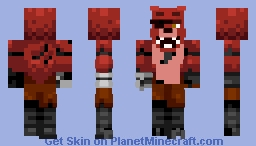 Fnaf Foxy (moving jaw) Minecraft Skin