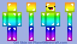 Rainbow Derp :P Minecraft Skin