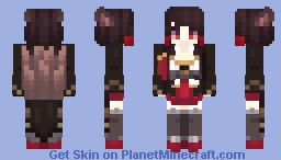 Default Akagi - Azur Lane (ADJUSTED TAILS) Minecraft Skin